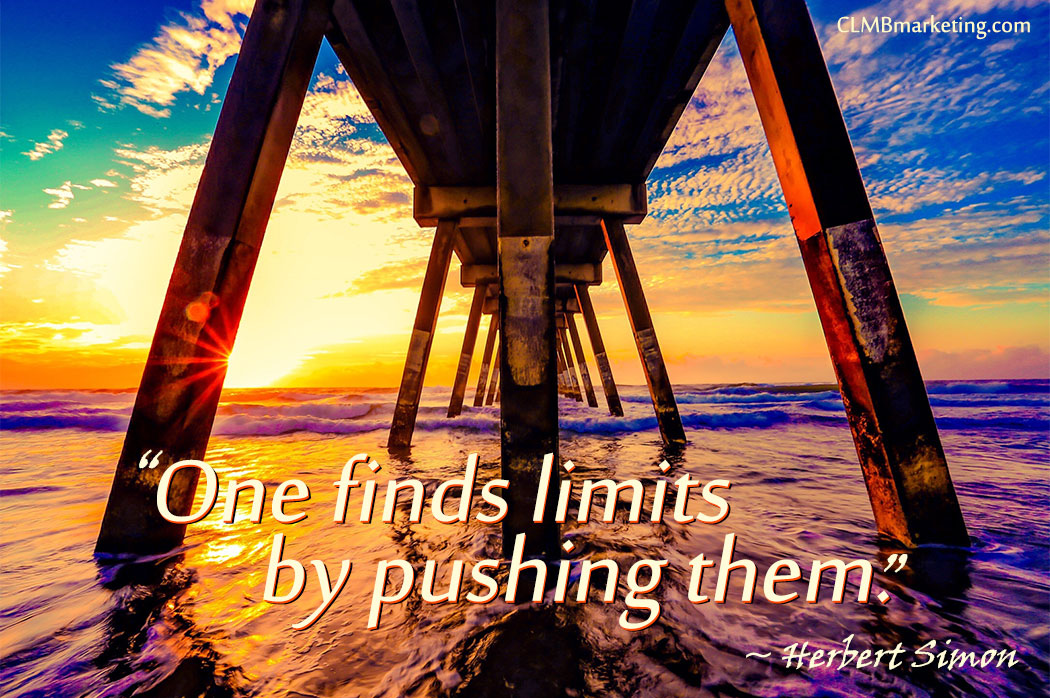 One finds limits by pushing them. – Herbert Simon
