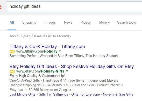 Holiday search engine marketing