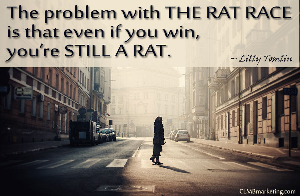 Motivational Business Quotes: The problem with the rat race is that even if you win, you're still a rat. – Lilly Tomlin