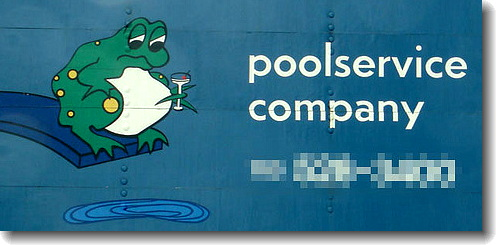 Worst Logo Designs: Poolservice Company