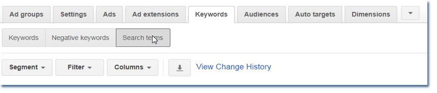 Negative Search Terms