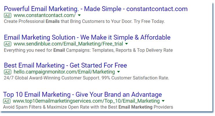 sample google text ad